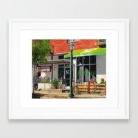 central perk Framed Art Prints featuring Inman Perk, Atlanta by ATL Landmark Art (Robyn Siani)