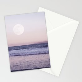 Moon Beach Sunset Stationery Cards