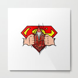 Double Superhero Metal Print