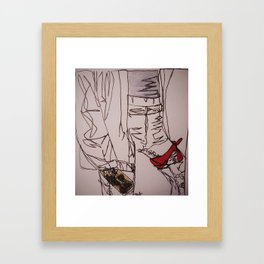 continuous kaitlyn Framed Art Print