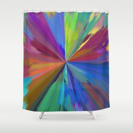 color wheel 01 Shower Curtain