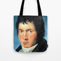beethoven Tote Bags featuring Beethoven by SuchDesign