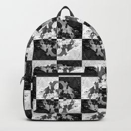 Swimming Glyphs and Sunflowers: Checkered Version Backpack