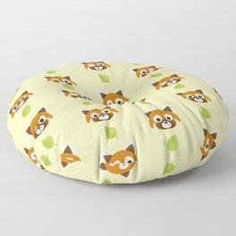 Red panda pattern Floor Pillow