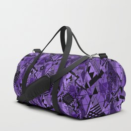 Abstract ethnic pattern in black, purple colors. Duffle Bag