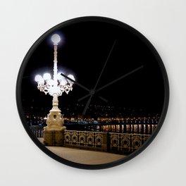 San Sebastian, Spain - Night Rider Wall Clock