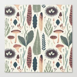Forest Fall Pattern Canvas Print