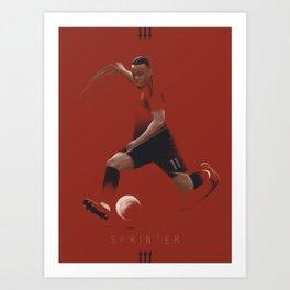 Red Devils: Sprinter Art Print