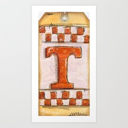 Tennessee Checkerboard Art Print