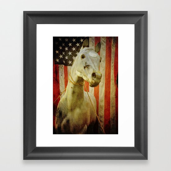 Portrait of an American Horse Framed Art Print