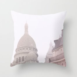 Fog coeur Throw Pillow