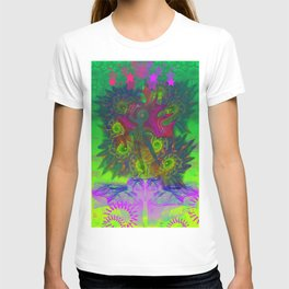Rooster Scratch (abstract, psychedelic) T-shirt