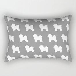 Bichon Frise Silhouette Rectangular Pillow