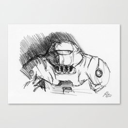 Warbot Sketch #046 Canvas Print
