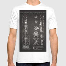 Soyuz Blueprint in High Resolution (black) T-shirt