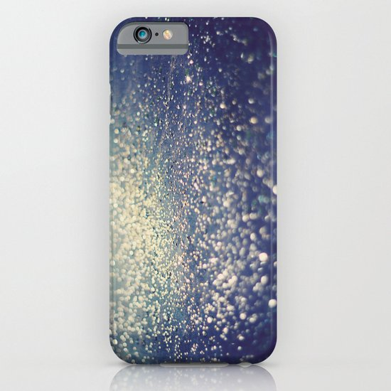 Glitter on Blue iPhone & iPod Case