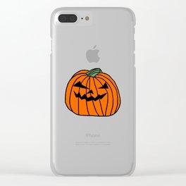 Spooky Halloween Pumpkin Clear iPhone Case