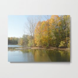 The Autumn Lake Metal Print
