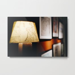 Photo of Maps on a Lamp in Schokland I, Holland/The Netherlands | Fine Art Colorful Travel Photography |  Metal Print