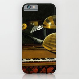 Bartholomeo Bettera Still Life with Musical Instruments and Books iPhone Case
