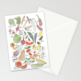 ABC fruit & vegetables Stationery Cards