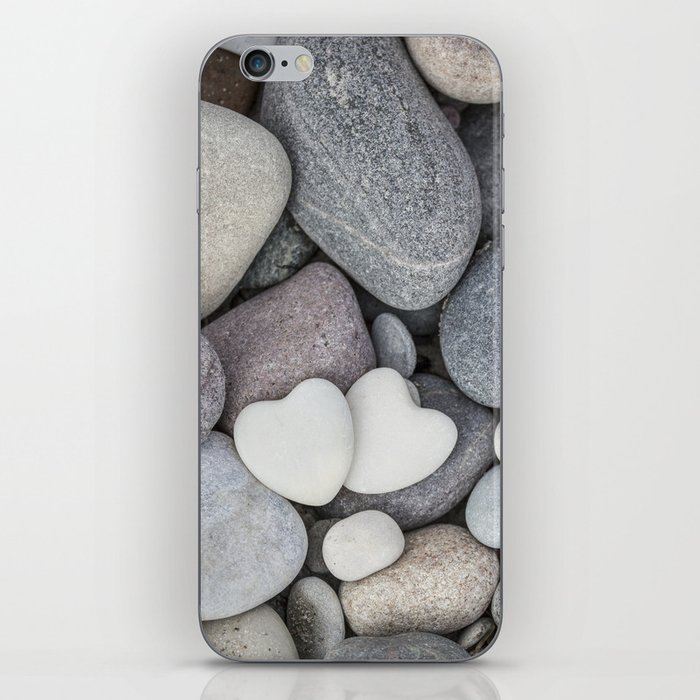 Heart Pebble Stone Mineral Love Symbol Iphone Skin By