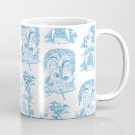 Blue Bawdy Toile Coffee Mug