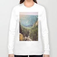 the mountains are calling Long Sleeve T-shirts featuring The Mountains Are Calling by Madeleine Johnson