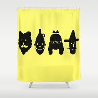oz Shower Curtains featuring Hipsters of Oz by Shelby Mullin