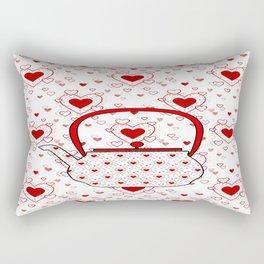 I Love Tea Rectangular Pillow