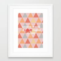 quotes Framed Art Prints featuring Quotes by Hannah Steyn