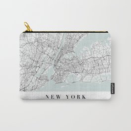 New York New York Blue Water Street Map Carry-All Pouch