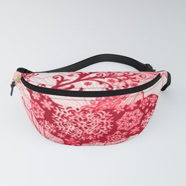 Flowers and Deer Fanny Pack