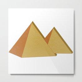 Egyptian pyramids, ancient Metal Print