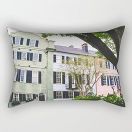 Rainbow Row in Charleston, SC Rectangular Pillow