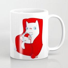 Kitty Loves Knitting Coffee Mug