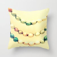 pastel Throw Pillows featuring pASTel Vintage Beads by 2sweet4words Designs