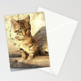 All Cats Are Black In The Dark Stationery Cards