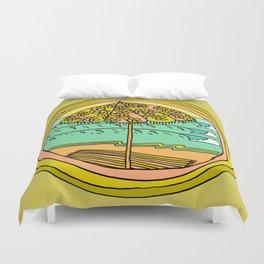 Shadey spot in paradise Duvet Cover