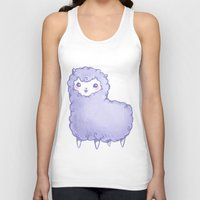 alpaca Tank Tops featuring Alpaca by Nurt