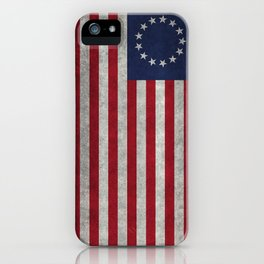 The Betsy Ross flag - Vintage grunge version iPhone Case
