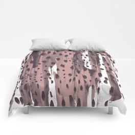 Rose and Dark Violet Comforters