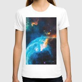Bubble Nebula, Galaxy Background, Universe Large Print, Space Wall Art Decor, Deep Space Poster T-shirt