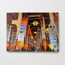 Through the Temple Metal Print