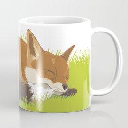 Snoozy Red Fox Coffee Mug