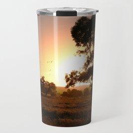 Evening Golden Landscape Travel Mug