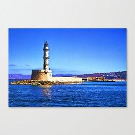 Venetian harbour entrance Canvas Print