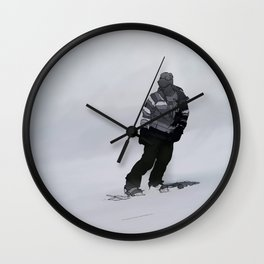 Winter Silence  -  Snowboarder Wall Clock