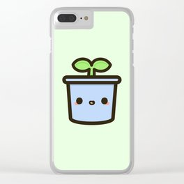 Cute sprout in pot Clear iPhone Case