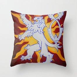 Czech Lion Throw Pillow